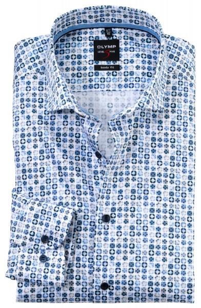 Hemd OLYMP LEVEL 5 body fit (Royal Kent, Print)