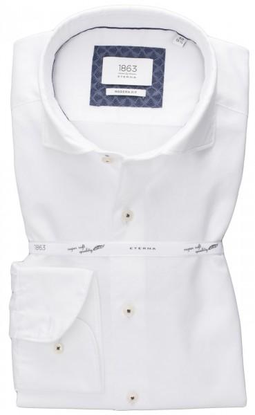 Hemd ETERNA 1863 modern fit, Soft Tailoring (Haifisch, Uni Twill, CO2 neutral)